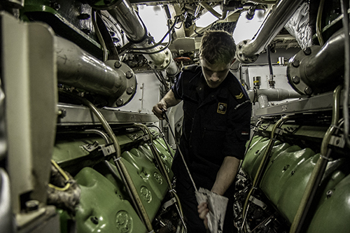 Diesels in engine room Walrus class submarine
