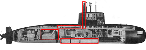 Moray 1800 submarine in 1989
